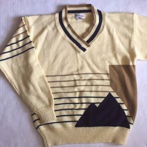 Vintage Izod club V-neck sweater